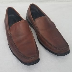 Cole Haan Nike Air Leather Brown Loafers for Men